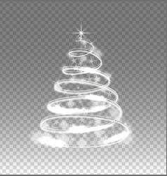 illumination lights tree isolated on transparent vector image