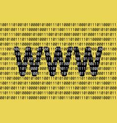 Internet birthday www 29th vector