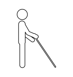 Isolated blind people design vector image