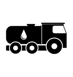 isolated oil truck icon vector image
