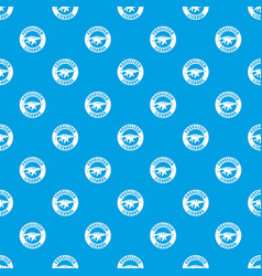 jurassic funny pattern seamless blue vector image