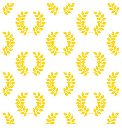 Leaf wreath pattern vector