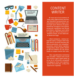 Literature content writer profession storytelling vector