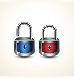 locks closed unclosed vector image
