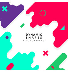 modern dynamic shapes style background vector image
