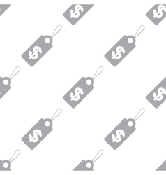 New Dollar tag seamless pattern vector image