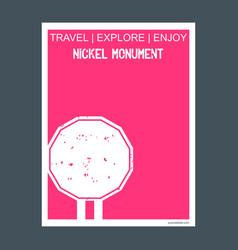Nickel monument sudbury ontario monument landmark vector
