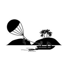 Parasailing extreme sport vector image