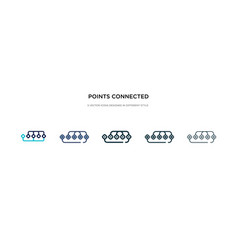 points connected chart icon in different style vector image