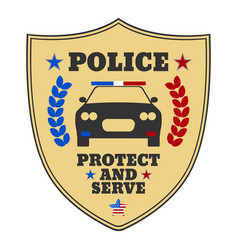Police sign police logo and banner vector
