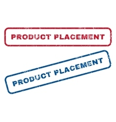 Product Placement Rubber Stamps vector