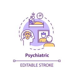 Psychiatric concept icon vector