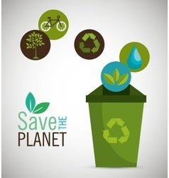 recycle save the planet icon design vector image