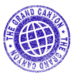 Scratched textured the grand canyon stamp seal vector