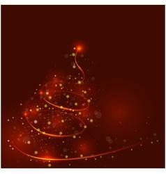 Shining christmas tree the magic christmas tree vector