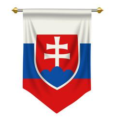 Slovakia pennant vector