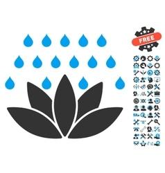 Spa Shower Icon With Tools Bonus vector