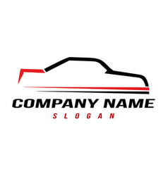 sport automobile logo vector image