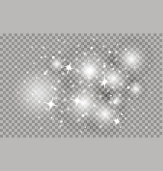 Star dust with bright sparkles shining sparks vector
