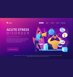 Stress concept landing page vector