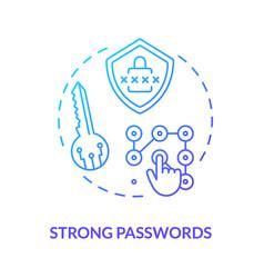 Strong passwords concept icon vector