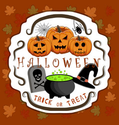 the theme halloween vector image