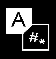 translation edit icon design vector image