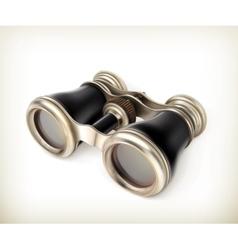 Vintage binoculars vector
