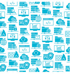 web hosting icons seamless pattern vector image