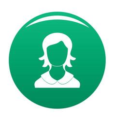 Woman user icon green vector