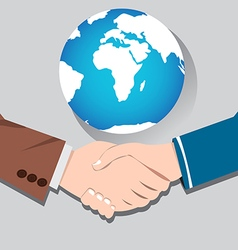 World Business Concept handshake vector