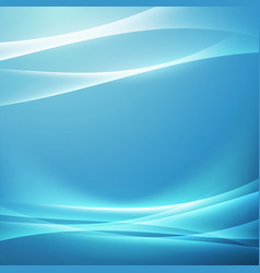 bright blue swoosh glow wave background vector image