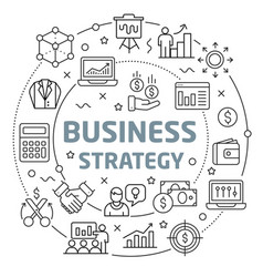 Business strategy linear slide for vector