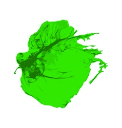 Green ink brush paint stroke with rough edges vector
