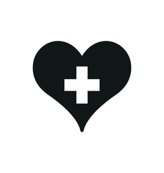 medicine heart on white vector image