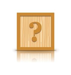 Question mark wooden alphabet block vector