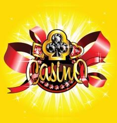 Casino emblem vector image