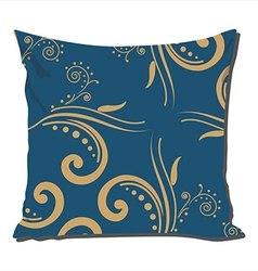 Pillow with vintage pattern vector image