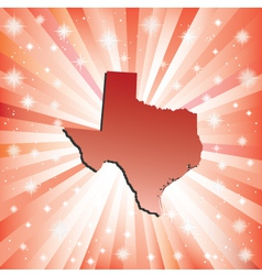 Red Texas vector image