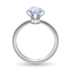 Ring with gem vector image