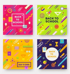 Set of Back to school backgrounds vector image vector image