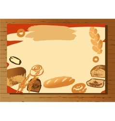 Set of of hand drawn bread for menu vector image