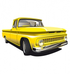 yellow pickup vector image vector image