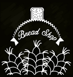 bread shop wheat product poster vector image