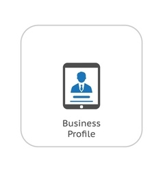 Business Profile Icon Business Concept Flat vector image