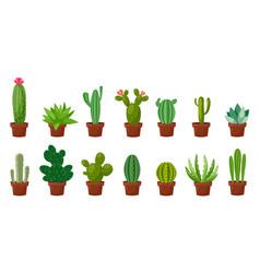 horizontal banner set of desert room green cactus vector image