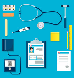 medical equipment or tools set vector image