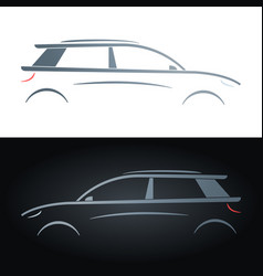 silhouette of a hatchback concept car vector image
