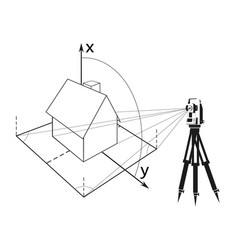 surveying for home vector image