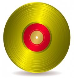 golden disc record album vector image